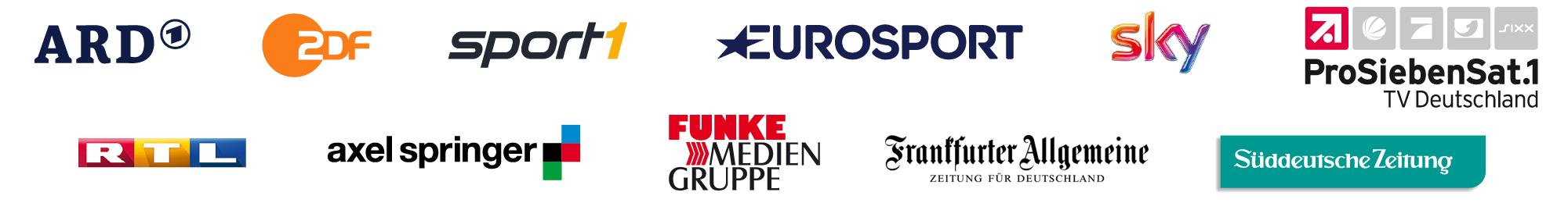 Unsere Kunden:<br /> 90% aller deutschen Medien